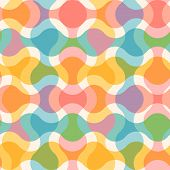 Vector Vintage Seamless Abstract Pattern. Vector Pattern For Holidays In Retro Style. Retro Abstract poster