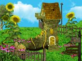 stock photo of midget  - Dwarfs Fantasy House in the enchanted dreamy land - JPG