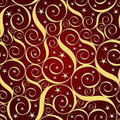 abstract curl seamless pattern