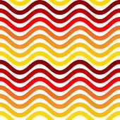 seamless retro color wave pattern