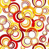 retro padrão de círculo sem costura