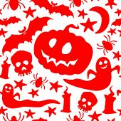 stock photo of drakula  - Halloween seamless pattern - JPG