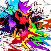 Abstract Illustration With Multicolored Splashes Magic Art poster