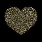 Gold Sparkles Glitter Dust Metallic Confetti Vector Background. Modern Golden Sparkling Background.  poster