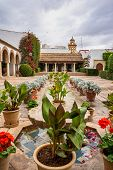 Courtyard Garden Of Viana Palace In Cordoba, Andalusia, Spain. Built In Xv Century. Viana Palace Is  poster