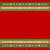 Colorful artistic border in green and red