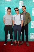 LOS ANGELES - JUN 3:  Jack Antonoff, Nate Ruess and Andrew Dost of Fun arriving at the 2012 MTV Movi