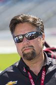 Ft WORTH, TX - JUN 08:  Michael Andretti watches qualifying for the Firestone 550 race at the Texas
