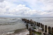 A breakwater in the Baltic Sea, Poland