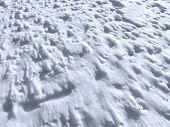 das Meer von Schnee