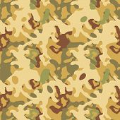 Desert brown and beige camouflage seamless pattern, vector