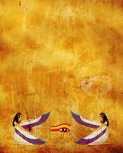Background with Egyptian goddess image - Isis