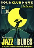 stock photo of blue moon  - Jazz and blues poster - JPG