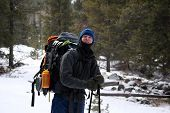foto of beartooth  - hiking up the lake fork in montana - JPG
