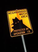 Night Sign Neighborhood Watch