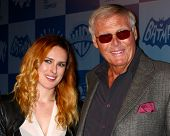LOS ANGELES - MAR 21:  Rumer Willis, Adam West at the Batman Product Line Launch at the Meltdown Com