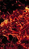 carbones al rojo vivo