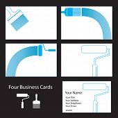 Four business card designs for painters and decorators