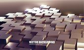Vector Abstract Technology Cubes