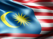 Malaysia country flag 3d illustration