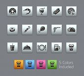 Food Icons - Set 2 of 2 // Satinbox Series -------It includes 5 color versions for each icon in different layers ---------