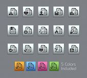 Documents Icons - 2 of 2 // Satinbox Series -------It includes 5 color versions for each icon in different layers ---------
