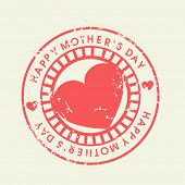 Grungy rubber stamp for Happy Mothers Day celebration.