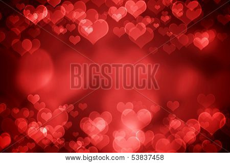 Red Glowing Valentine's Day Background poster