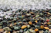 Colorful Stones at Seashore
