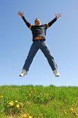 Man Jumping Happy poster
