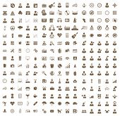 Vector set of business, health, music, hipster icons, symbols and pictograms