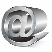 Illustration of email sign isolated on a white background. Vector.
