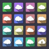 Cloud shapes collection. Flaticons series. Vector icons