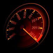 Speedometer 2014. Vector illustration