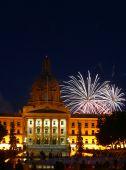 Fireworks Over Alberta Legislative Building