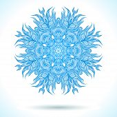 picture of boxing day  - Snowflake design for winter holiday card - JPG