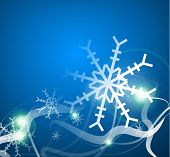 Christmas lightning abstraction - snowflakes and wave lines