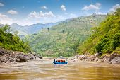 foto of raft  - Rafting on the Bhote Koshi  in Nepal - JPG