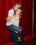 LOS ANGELES - OCT 6:  Kim Matula, Linsey Godfrey at the Light The Night The Walk to benefit the Leuk