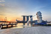 sunrise at Singapore city