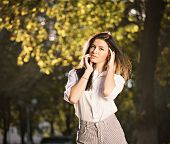 Summer Fashion Portrait Of Young Beautiful Stylish Girl Posing Outdoors