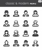 People Flat Icons. Classic And Modern Style