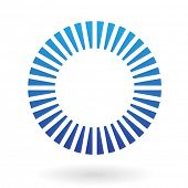Round Abstract Striped Icon
