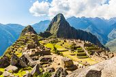 Mysterious City - Machu Picchu, Peru,south America. The Incan Ruins. Example Of  Polygonal Masonry A