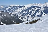 Ski slopes in the Alps. Kitzsteinhorn, Austria