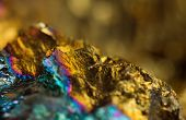 Abstract Background, Gold, Bronze, Copper, Iron. Macro. Extreme Closeup