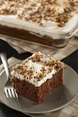 foto of toffee  - Homemade Toffee and Chocolate Cake with Vanilla Frosting - JPG