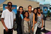 LOS ANGELES - APR 11:  Daphne Wayans, Nala Wayans, guests at the Despicable Me Minion Mayhem  and Su