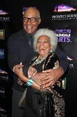 LOS ANGELES - APR 15:  Michael Dorn, Nichelle Nichols at the