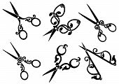 picture of scissors  - Set of retro scissors - JPG
